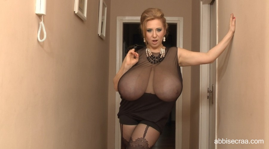 Wide breasts in narrow corridor - screen grabs
