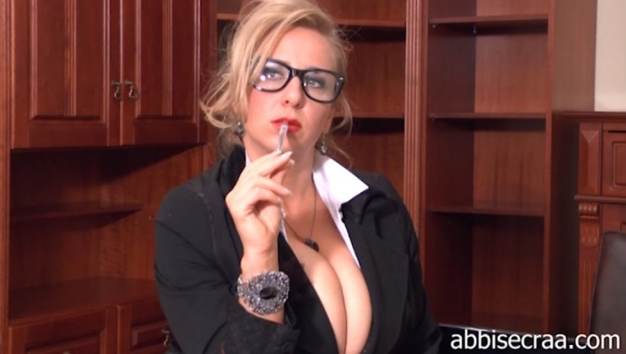 Busty Secretary World ( part I  dressed )