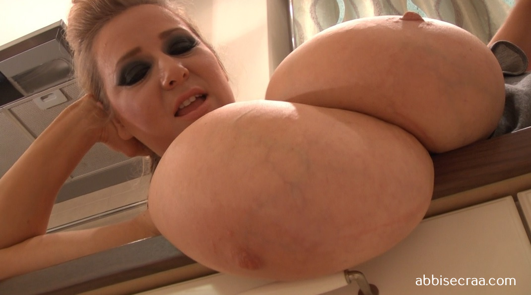 Big breasts in the kitchen - screen grabs